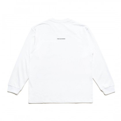 """""""Make Our Planet Great Again"""" Pocket Loose Long Sleeve Tee   White - 59"""